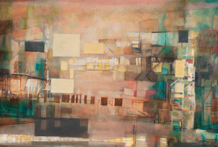 'Silent City', 2011, oil on canvas, 42in x 28in