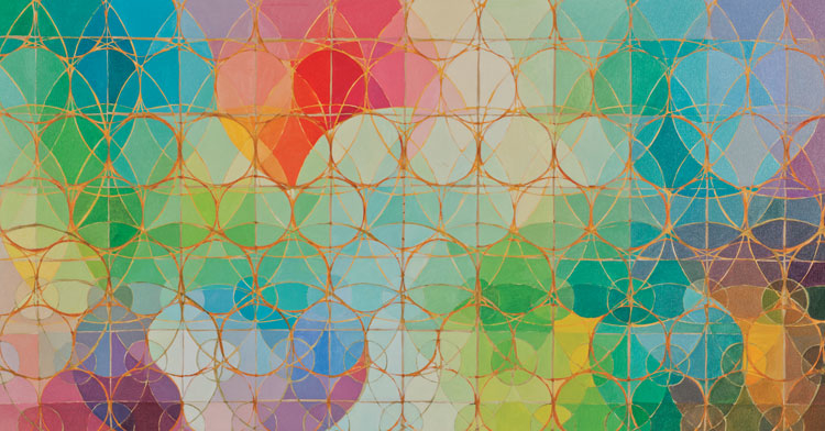 'Vibration', 2007, oil on canvas, 72in x 36in