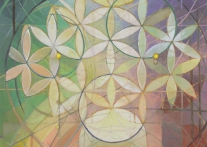 'Flower of Life', 2013, oil on canvas, 48in x 71in